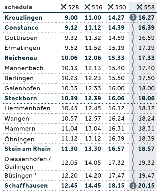 Timetable to SH_EN